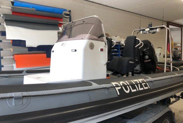Reparatie schade Polizei RIB