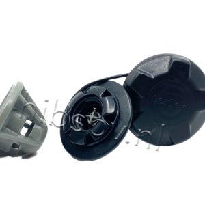 Leafield D7 ventiel zwart en grijs