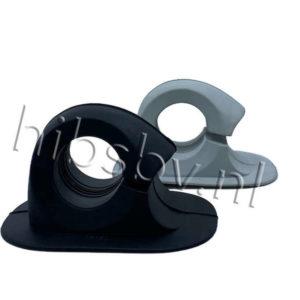 peddelhouder rubber lichtgrijs en zwart